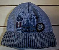 Осенне- зимняя шапочка   для мальчика р 42-44, фото 1