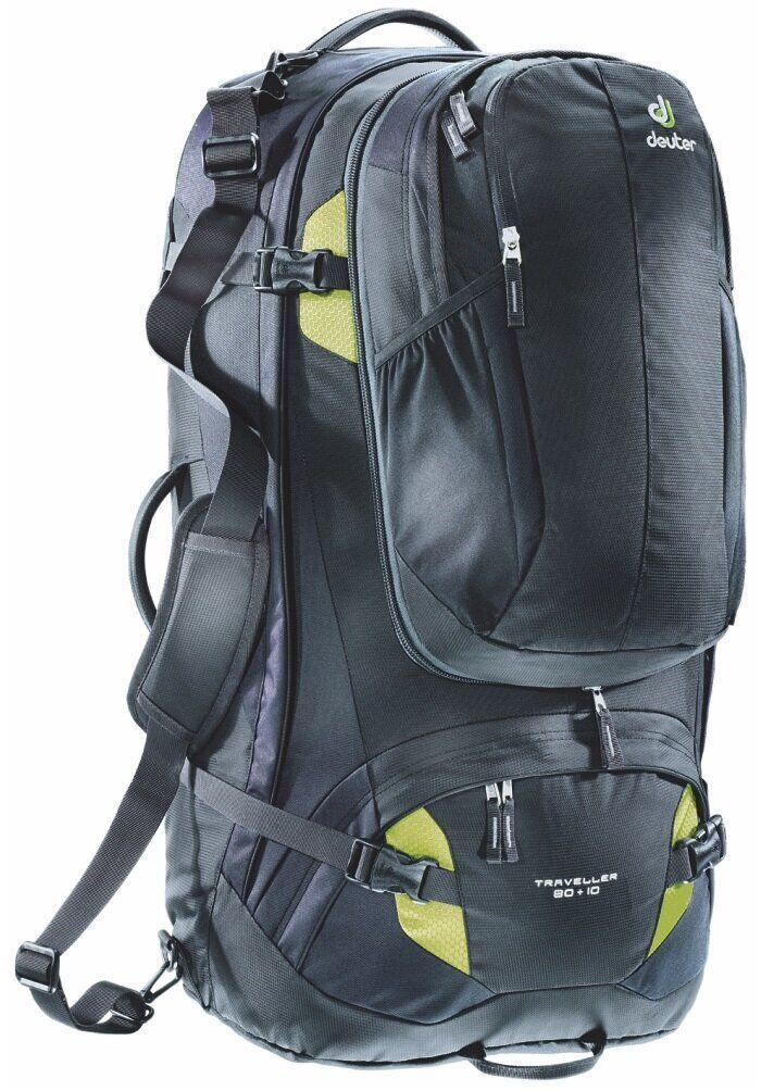 Сумка-рюкзак Deuter Traveller 80+10 black-moss (3510215 7260)
