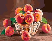Персики в корзине, вариант Premium