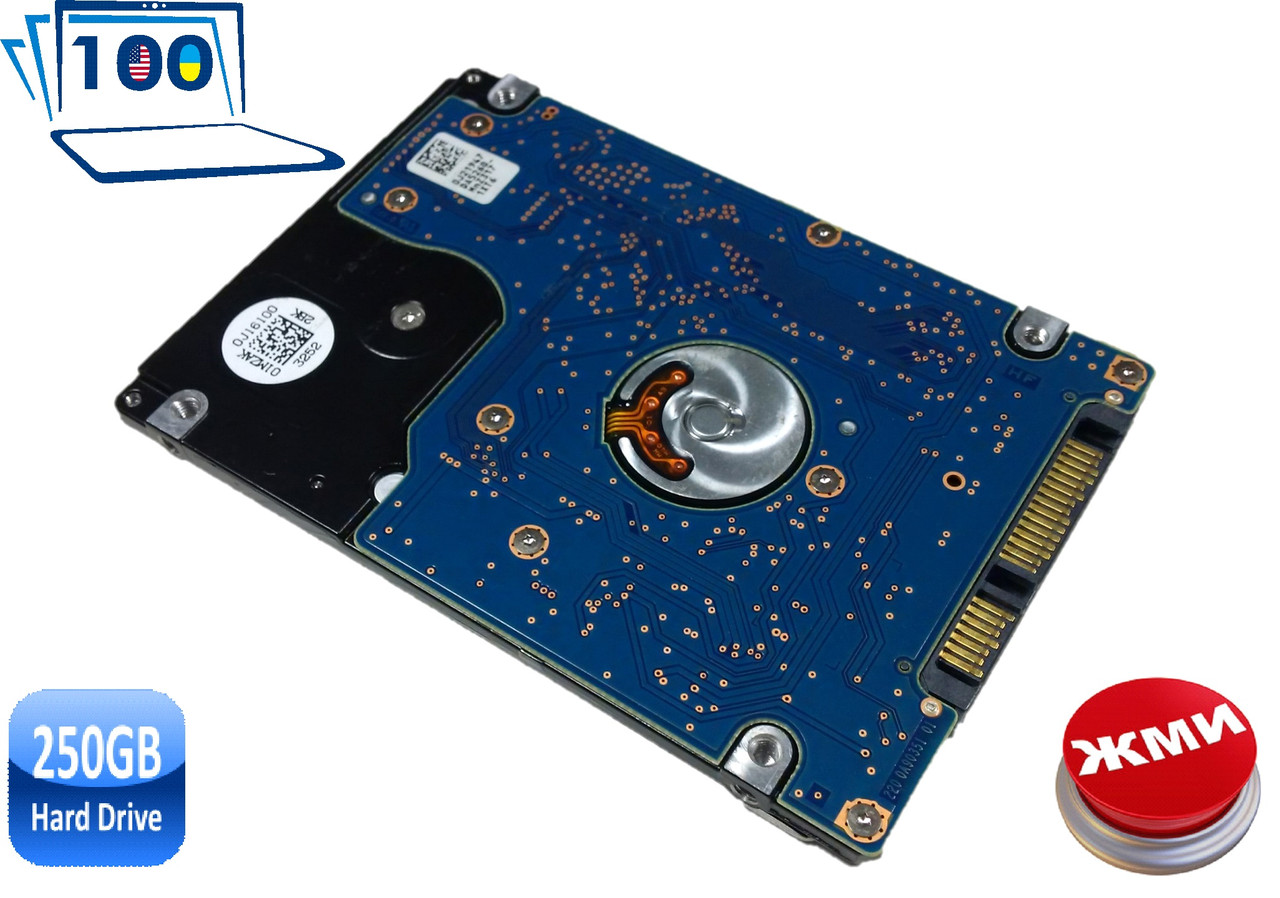 Жесткий диск (винчестер) HDD WD Scorpio Black 250GB WD2500BEVT 7200rpm 2.5 SATA3 Винчестер БУ
