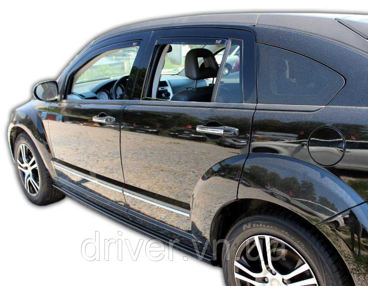 Дефлектори вікон вставні Dodge Caliber 5D 2006->, 4шт