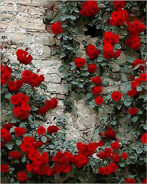 Картина для малювання за номерами Квіти Дика троянда 40х50см Mariposa Turbo