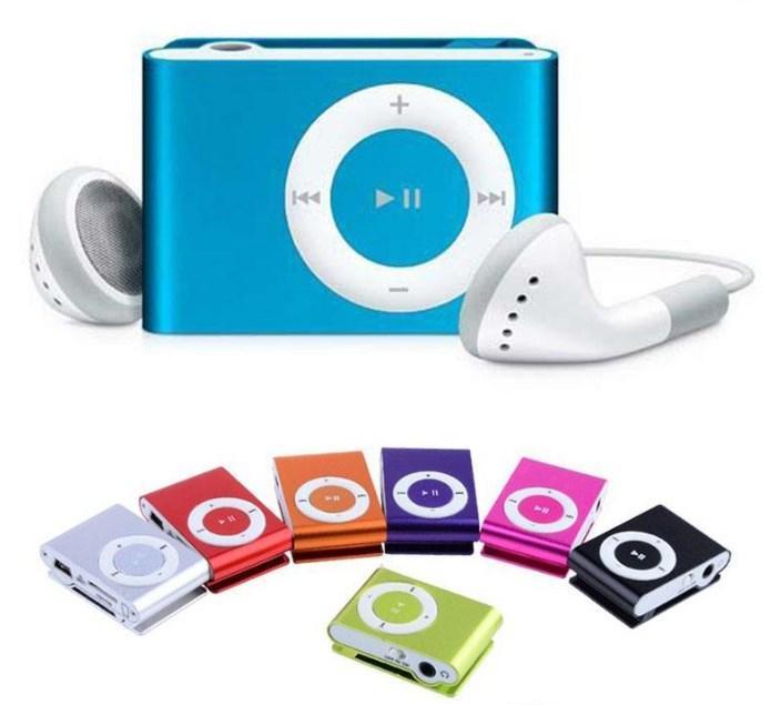 MP3 плеер в стиле iPod Shuffle голубой