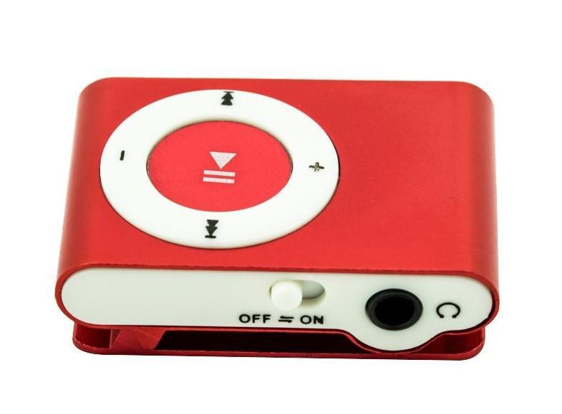 MP3 плеер клипса красный