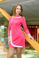 """Короткое трикотажное платье-тюльпан """"Пуговка"""" с длинным рукавом (2 цвета)"""