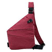 Мужская сумка-мессенджер Cross Body красная