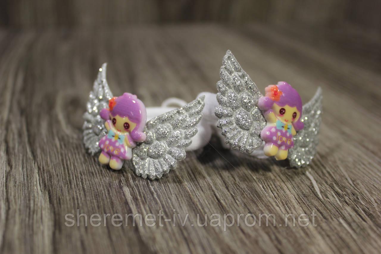Резинки для волос кукла с крыльями ручная работа