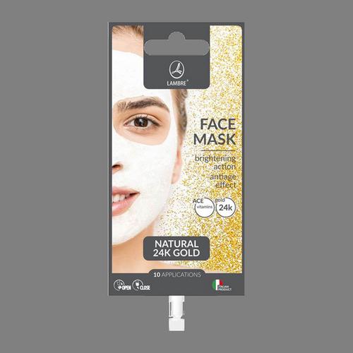 Осветляющая маска для лица LAMBRE FACE MASK GOLD с натуральным 24-каратным золотом 15 мл
