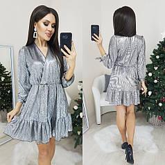 Платье блестящее в расцветках 307012