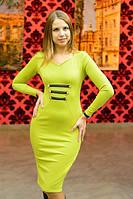 """Облегающее трикотажное миди-платье """"Дилара"""" с длинным рукавом (4 цвета)"""