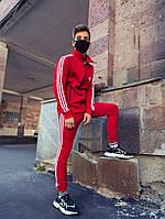Спортивный костюм мужской в стиле Adidas Round красный