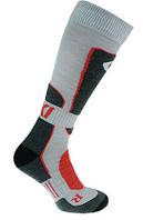 Термо носки горнолыжные, сноубордические FILMAR FACTORY SKI PROFESSIONAL, светло-серые, тёмные вставки, PRO, фото 1