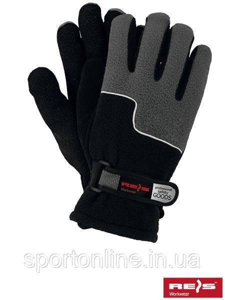 Зимние перчатки REIS, теплые, флисовые темно-серые 10 р-р
