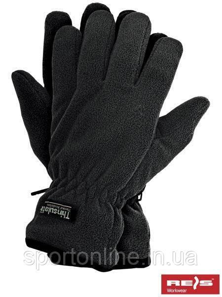 Зимние перчатки REIS Thinsulate, теплые, флисовые чёрные 10 р-р