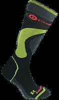 Термо носки горнолыжные, сноубордические FILMAR FACTORY SKI SILTEX, чёрные, зелёные вставки, фото 1