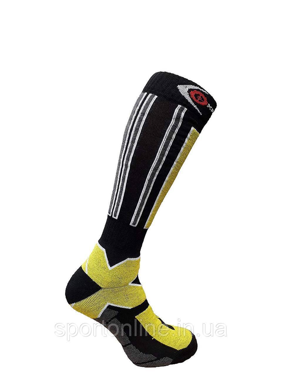 Термоноски горнолыжные Filmar Factory SKI Professional, черные+желтый