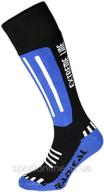 Детские лыжные носки зимние термоноски Radical Extreme Line, синие с черным