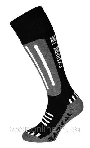 Детские лыжные термо носки зимние Radical Extreme Line, серые с черным