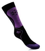 Детские носки для лыж и сноуборда SKI KID DEODRANT JJW, зимние, черный с фиолетовым 24-26, фото 1