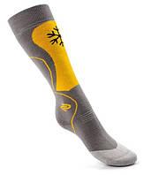 Детские носки для лыж и сноуборда SKI KID DEODRANT JJW, зимние, серый с желтым, фото 1