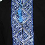 """Мужская вышиванка """"Федор"""" (чёрно-синий) , 37, фото 2"""