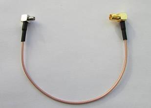 Антенный переходник SMA-female - TS-9 угловой