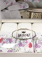 Набір махрових рушників 30-50 см в подарунковій упаковці, фото 1