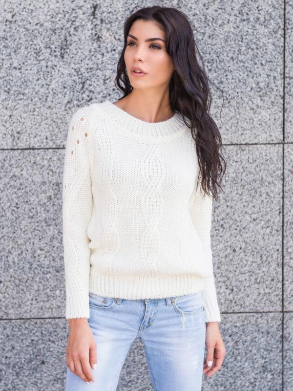 вязаный женский стильный свитер р44 46 р48 50 цена 480 грн