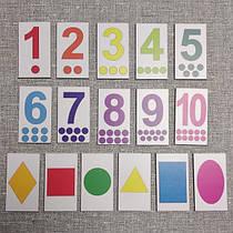 Набор цифр и фигур. Дидактический материал