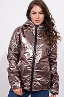 Куртка прямого кроя с капюшоном на молнии