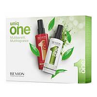 Набор Спрей-уход + Спрей-уход с ароматом зеленого чая Revlon Professional Uniq One All In One Hair Treatment