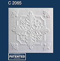 Плита потолочная белая C2065. Потолок пенополистирол.