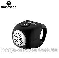 Велозвонок электронный громкий RockBros C2F велосипедный звонок, сигнал, гудок, клаксон для велосипеда Черный