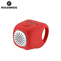 Велозвонок электронный громкий RockBros C2F велосипедный звонок, сигнал, гудок, клаксон для велосипеда Красный