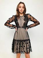 Нарядное платье в горошек сетка Новогоднее вечернее платье