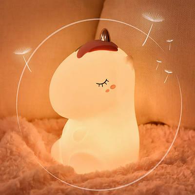 Ночник детский силиконовый Losso - Единорог белый