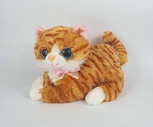 Мягкая игрушка кот Том рыжий лежащий котик 29 см