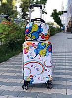 Комплект дорожный пластиковый чемодан с кейсом, фото 1