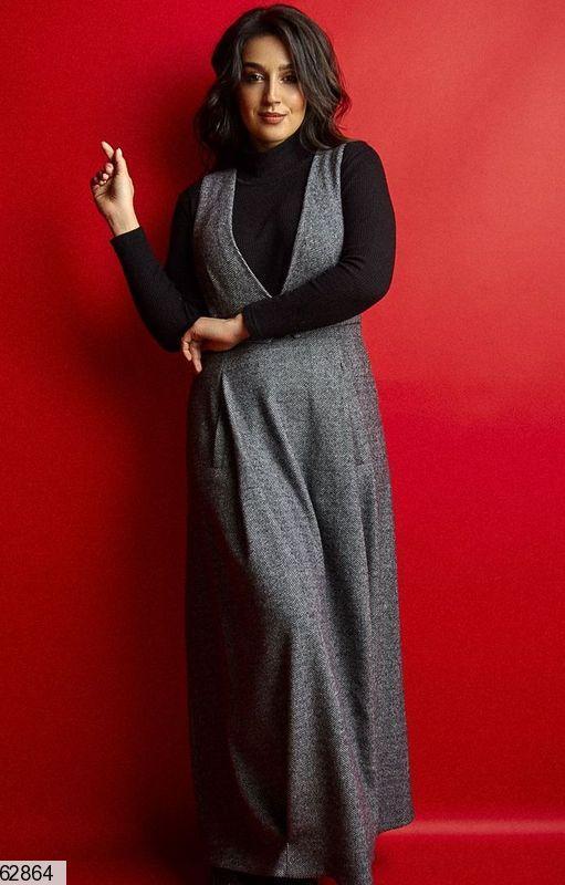 Платье сарафан+гольф размеры: 50-56