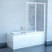 Штора для ванны сложная Ravak VS2-105 Grape 1400х1045 двухэлементная Белый, 1450