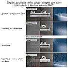 Штора для ванны неподвижная Ravak BVS1-80 Transparent 1500х800 одноэлементная, фото 6