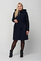 """Жіноче пальто з капюшоном ,,Глорія"""" розмір 44-52 р . Батал з утеплювачем ., фото 1"""