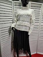 Свитер женский с гипюром