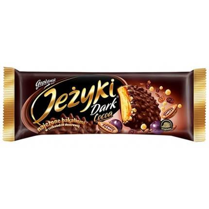 Печенье в шоколаде Jezyki Dark cocoa Goplana, 140 г Польша, фото 2