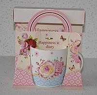 """Чашка в подарунковій упаковці """"Happiness diary"""" (320 мл), фото 1"""