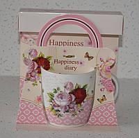 """Чашка в подарунковій упаковці """"Happiness life"""" (320 мл), фото 1"""
