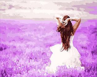 Картина по номерам Девушка в лаванде Лавандовые мечты 40х50см Mariposa Turbo