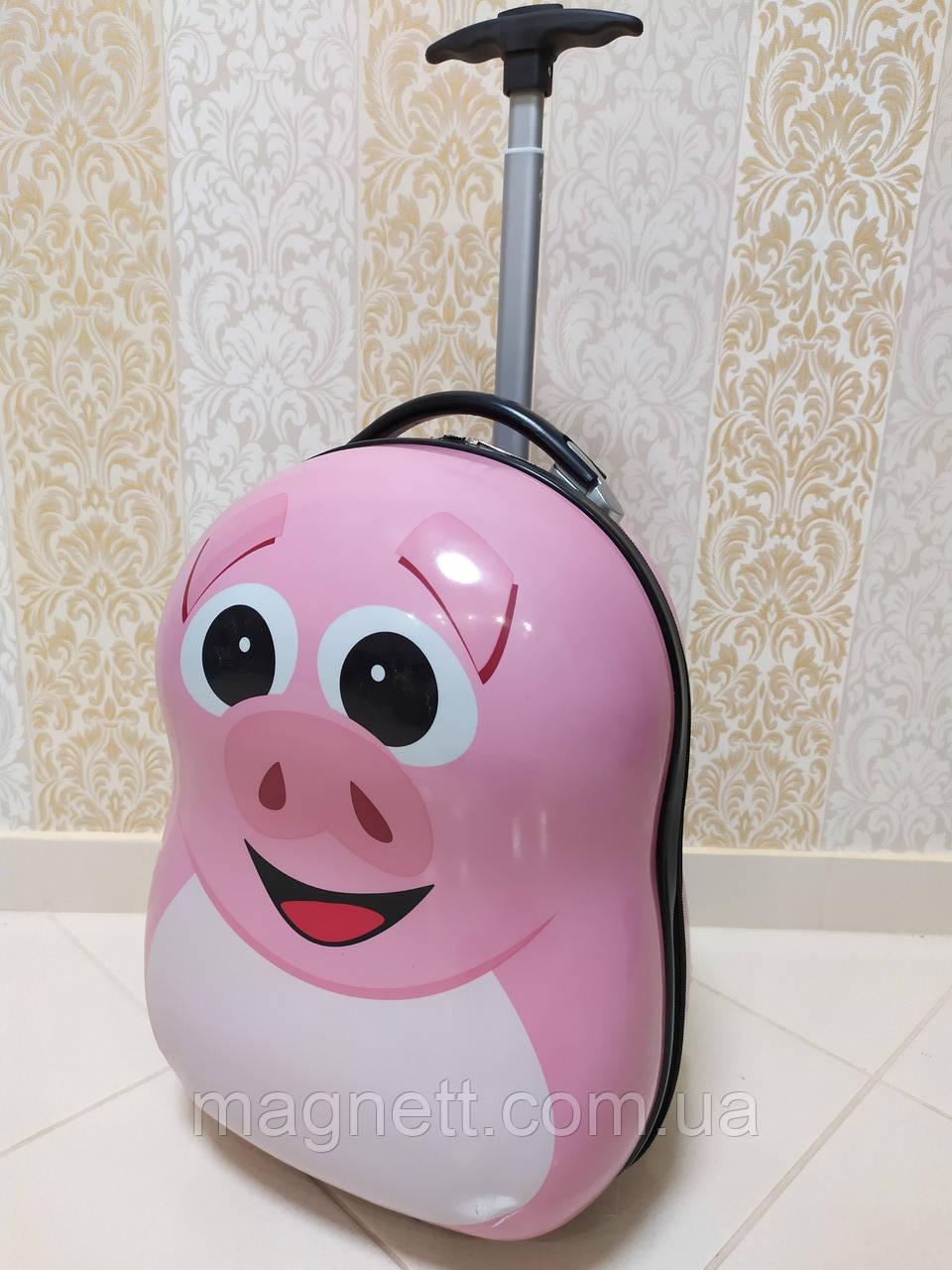 Дитяча валіза на 2 колесах 45*30*25см Рожева Свинка