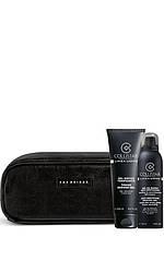 K28514 Collistar  Men  Гель для душа Linea Uomo + пена д/бритья Anti Irritation Shaving Gel + косметичка для мужчин 250 мл Код 26023