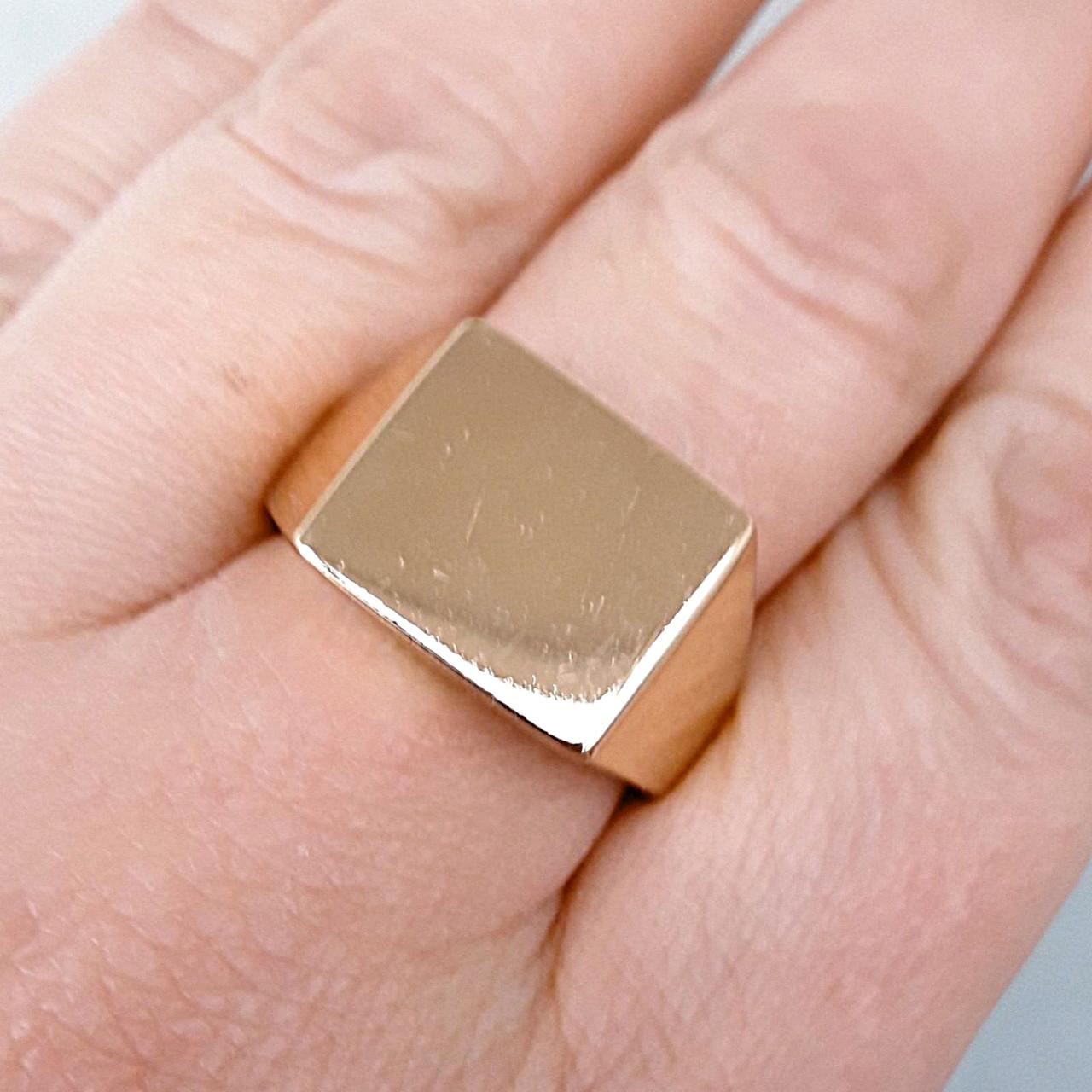 Кольцо xuping 21р печатка мужская 1.3см позолота 18К медзолото м268